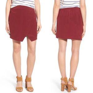 Madewell parkway silk skirt